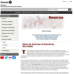 The War of 1812: Sources