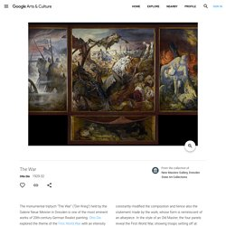 The War - Otto Dix — Google Arts & Culture
