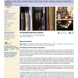 THE WARBURG INSTITUTE: Library