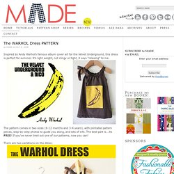 The WARHOL Dress PATTERN