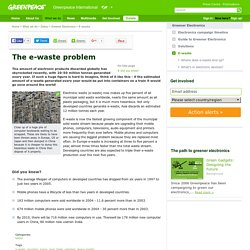The e-waste problem