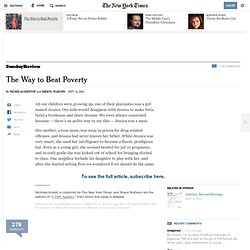 The Way to Beat Poverty