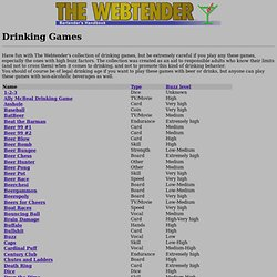 The Webtender: Drinking Games.