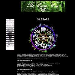 The Wiccan Way - Sabbats