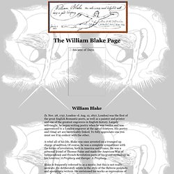 The William Blake Page