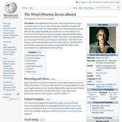 The Wind (Warren Zevon album)