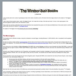 The Windsor-Bush Bloodline
