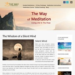 The Wisdom of a Silent Mind