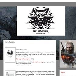 The Witcher - RPG: Manuel de Jeu