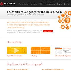 The Wolfram Language for the Hour of Code