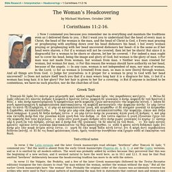 The Woman's Headcovering