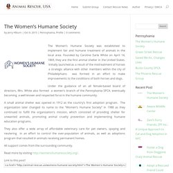 The Women's Humane Society