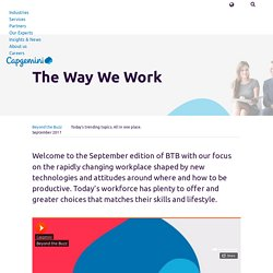The Way We Work – Capgemini Worldwide