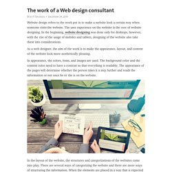 The work of a Web design consultant