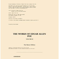 The Works of Edgar Allen Poe, Volume 2