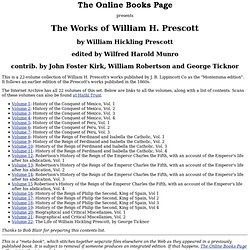 The Works of William H. Prescott