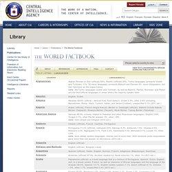 données langues CIA