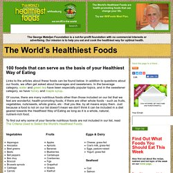 The Worlds Healthiest Foods - StumbleUpon