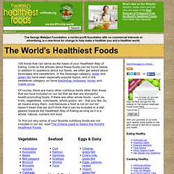 WHFoods: The World's Healthiest Foods