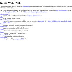 The World Wide Web project