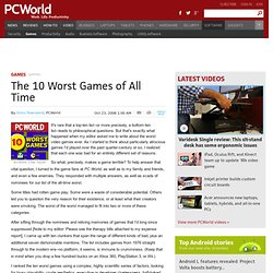 The 10 Worst Games of All Time