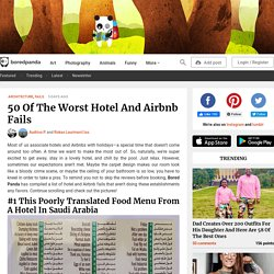 50 Of The Worst Hotel And Airbnb Fails