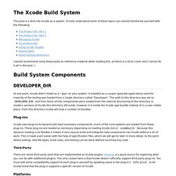 The Xcode Build System