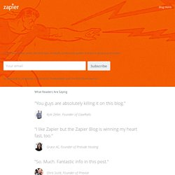 The Zapier Blog