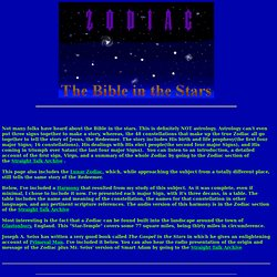 The Zodiac-Bible In The Stars