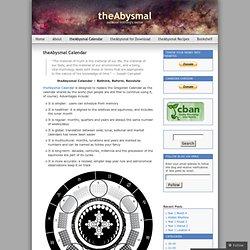 theAbysmal Calendar « theAbysmal