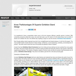 Know TheAdvantages Of Superior Exhibition Stand Design