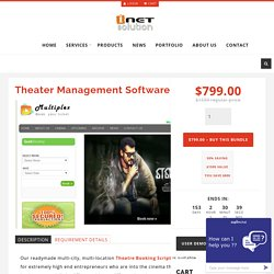 Theater Booking Script, Theater Management Software