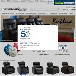 Theater Seating | Home Theater Furniture | Berkline | Palliser | Movie Seating - Theater Seat Store