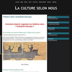 Théâtre dans l'antiquité Grecque