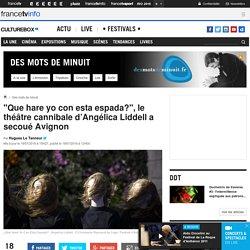 """""""Que hare yo con esta espada?"""", le théâtre cannibale d'Angélica Liddell a secoué Avignon / Culturebox"""