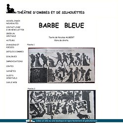 Barbe bleue théâtre d'ombres chinoises silhouettes