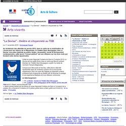 """""""La Devise"""" - théâtre et citoyenneté au TDB - Arts & Culture"""