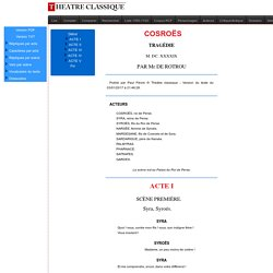 Théâtre Classique : édition de COSRO S (ROTROU, Jean)