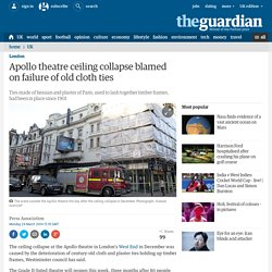 Apollo theatre ceiling collapse blamed on failure of old cloth ties