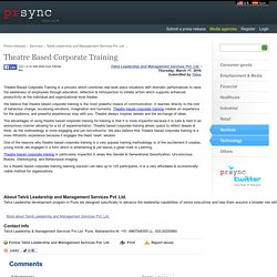 Theatre Based Corporate Training