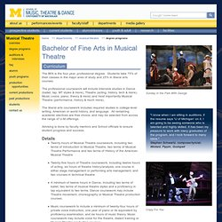 UM School of Music, Theatre & Dance - Department of Musical Theatre - Degree Programs