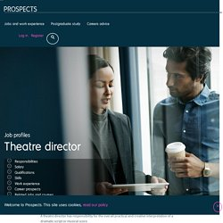 Theatre director job profile