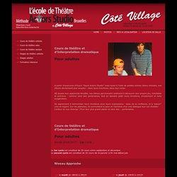 L'école de théâtre Méthode Actors Studio Bruxelles - Cours de théâtre pour adultes