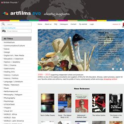 Art Films - Theatre, Visual Art, Dance, Documentaries