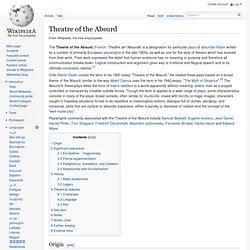 Esslin theatre of the absurd essay