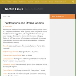 Theatresports and Drama Games