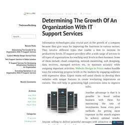 Determining The Growth Of An Organization With IT Support Services