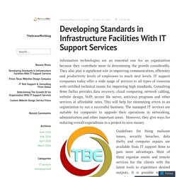Developing Standards in Infrastructure Facilities With IT Support Services