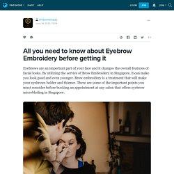 Eyebrow Microblading Singapore
