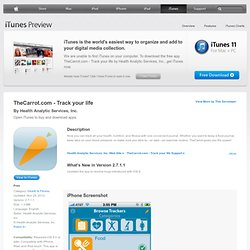TheCarrot.com - Track your life for iPhone, iPod touch, and iPad on the iTunes App Store